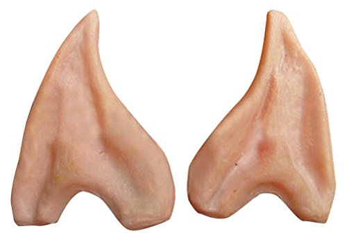 Maze Fun Cosplay Silicone Natural Skin Color Artificial Pointy Elf Ear Tips, 1- One Size ()
