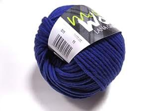 Lana Grossa McWool algodón mezcla patrón 80-511 lana azul 50 g