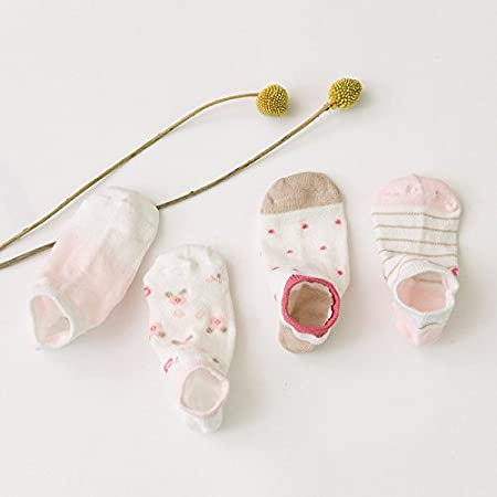 ZYTAN bambini, calze casual sports barche, calzini, fresco di maglia di cotone calze 5 coppie