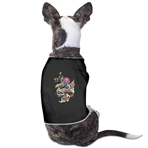XUGGL Custom Dog Clothes Scarf Design Ing Eagle Flying Tattoo Traditional Tank Top Soft Cotton Dog Clothing Women