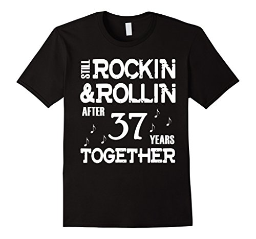 Men's 37th Anniversary shirt – 37 Years Together Couples Gift Large Black