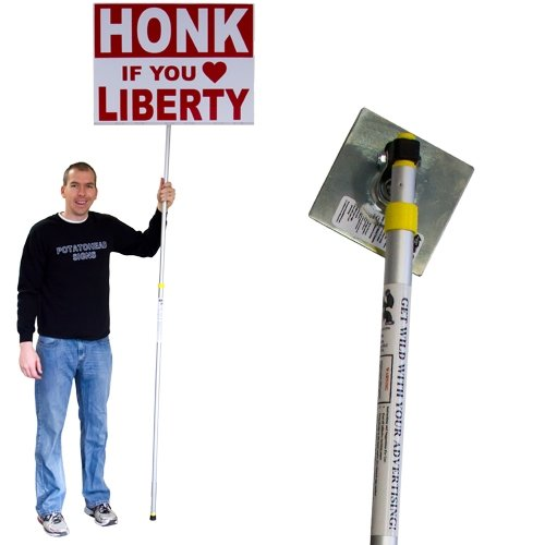 Visibility Signage Guerilla Pole for Street Waver, Sign Spinner and Business Advertising