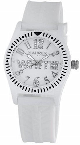 Haurex Italy Kids' PW331DW1 Promise G P White Dial Crystal Watch by Haurex