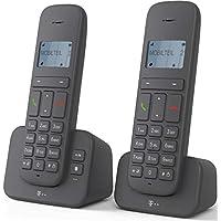 """Sinus 40318193 """"CA 37"""" Duo Schnurlostelefon (Dot-Matrix-Display, Anrufbeantworter) anthrazit"""
