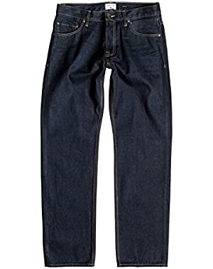 Men's High Force Rinse 32 in. Relaxed Fit Jeans and HDO Travel Sunscreen (15 SPF) Spray Bundle
