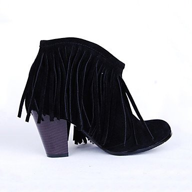 Tobillo Botines Botas Nobuck Confort de Dedo Botas Botas Mujer AIURBAG Cuero Innovador el el black Moda hasta Zapatos Hasta Puntiagudo Invierno Otoño UpY46