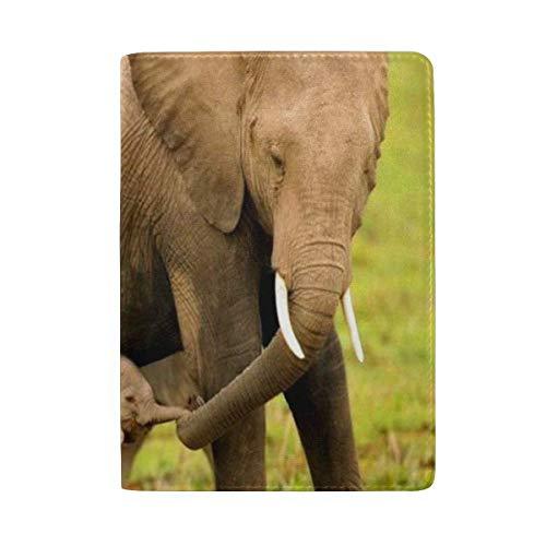 (jiebokejiHFGD Passport Holder Mother Calf Elephants Love Passport Cover Case Wallet Card Storage Organizer for Men Women Kids 5.51 in x 3.94 in)