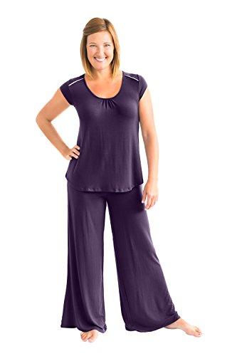 Kindred Bravely The Amelia Ultra Soft Maternity & Nursing Pajamas - Pants Set (Eggplant, XXL)