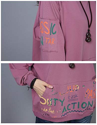 A 2xl Cotone Lunga Xl165cm Nuova Maniche Lunghe Donna Super Maglietta Dimagrante Corte Felpa Allentata Camicia In Sadf ZSqwEPAx