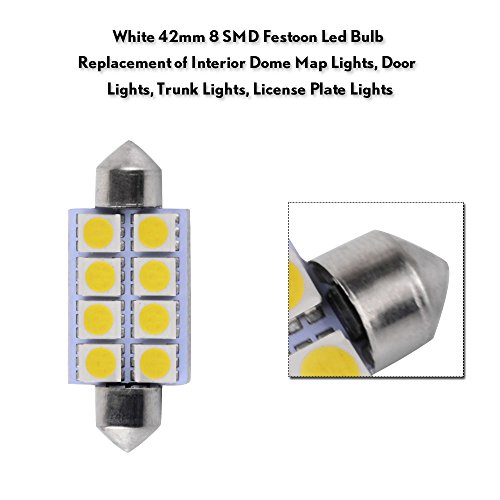 LEDKINGDOMUS-20-Pcs-42mm-8SMD-Festoon-LED-Interior-Map-Dome-Lights-Bulbs-211-2-578