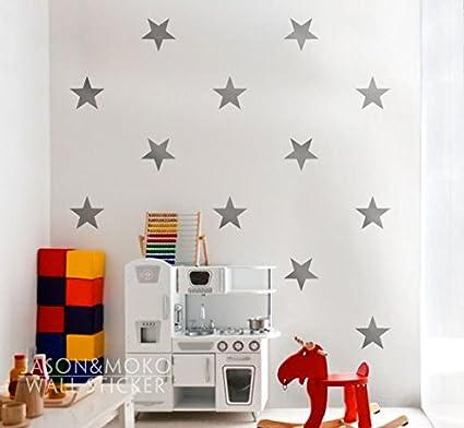 Decoración del hogar Grandes Estrellas - Niños vinilo adhesivo Pared ...