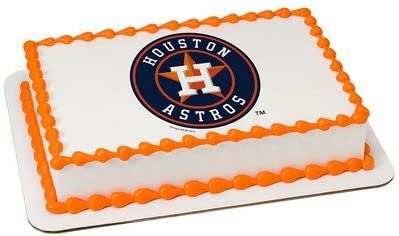 Strange Amazon Com Houston Astros Licensed Edible Cake Topper 34931 Personalised Birthday Cards Paralily Jamesorg