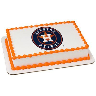 Amazon Houston Astros Licensed Edible Cake Topper 34931