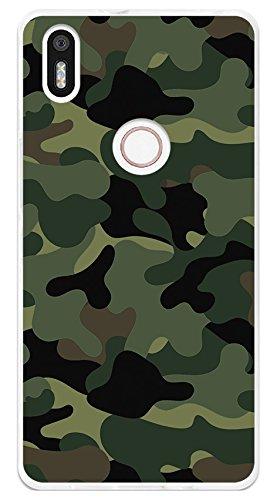 Tumundosmartphone Funda Gel TPU para BQ AQUARIS X5 Plus diseño Camuflaje Dibujos