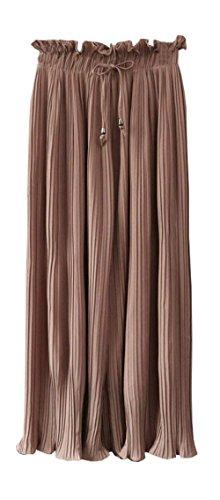 Elegante Monocromo Donna Pantalone Estivi Larghi Moda Femminilit Pantaloni H1TxREwx