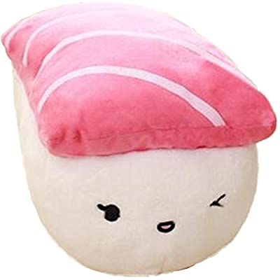 Nonika Soft Plush Huggable Sushi Pillow - Adorable Plushie Toys and Gifts Sushi Lovers Must Have (Salmon Nigiri): Toys & Games
