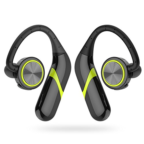 GSPON Wireless Bluetooth Headphones, TWS Mini Sport Earphones with Mic IP67 Waterproof HD Stereo Sweatproof In Ear Earbuds for IOS & Android