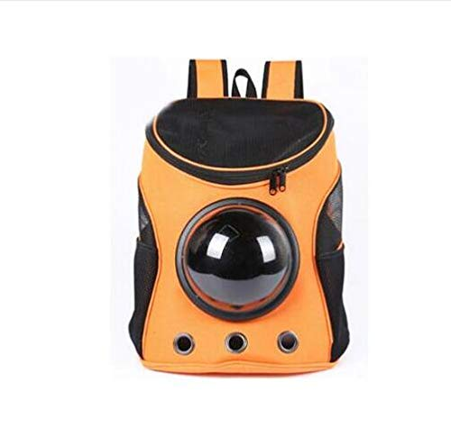 orange Pet Carrier Backpack Space Cat Dog Carrier Capsule Bag Carrier Cats and Dogs Outdoor Products