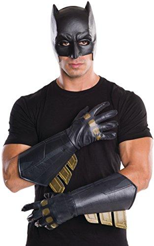 Batman Adult Gauntlet Gloves (Rubie's Men's Batman v Superman: Dawn of Justice Batman Gauntlets)