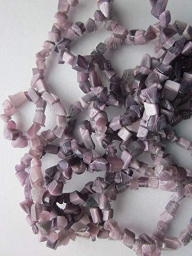 Purple Cats Eye Chip Beads 4-5mm 20 Beads
