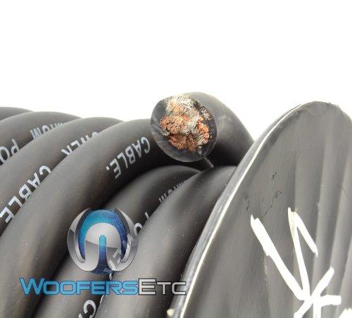 Skar Audio Black 0GA 50ft Roll Flexible Power Cable 0GA