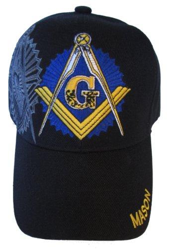 Freemason Embroidered Adjustable Hat Mason Masonic Lodge Baseball Cap (Black) Masonic Baseball Cap