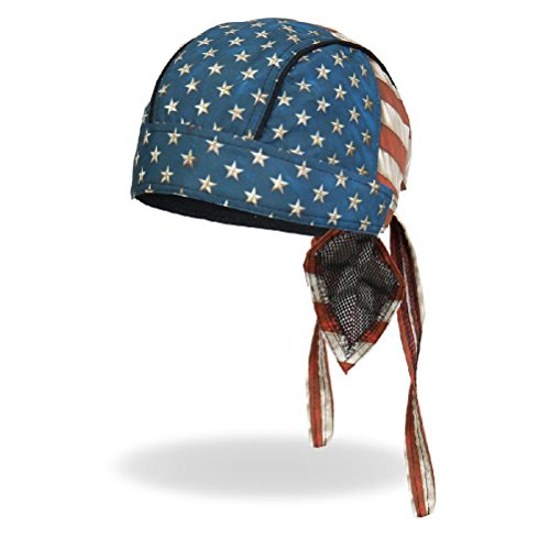 (Distressed American Flag USA Old Glory Premium Headwrap Sweatband Durag Biker)