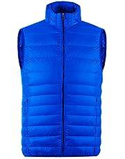 MADHERO Mens Packable Puffer Vest Stand Collar Lightweight Sleeveless Jacket