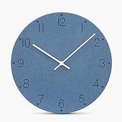 mubgo Wall Clocks Modern Design Wooden 12 Inches Colorful Wall Clock Vintage Wall Clock Pendulum Mute Clock Safe Quartz Clock Movement Home