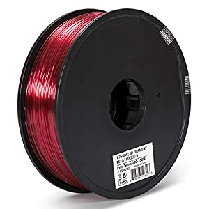 Inland 1.75mm PETG 3D Printer Filament - 1kg Spool (2.2 lbs) by INLAND