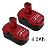 2 Packs 6.0Ah 19.2V C3 Replace for Craftsman 19.2 Volt Lithium-ion Battery XCP DieHard 315.115410 315.11485 130279005 1323903 120235021 11375 11376 Cordless Battery