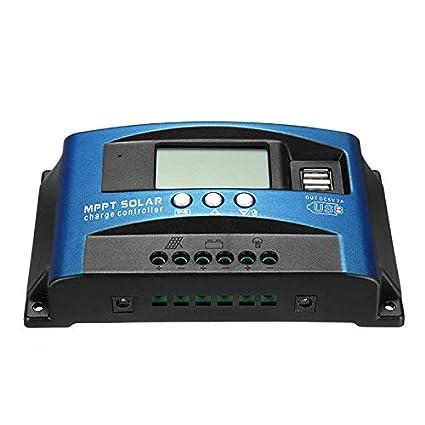 Guajave 40A-100A MPPT R/égulateur de Charge de Panneau Solaire 12 V//24 V 40A