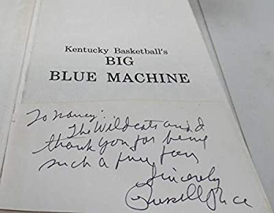 Russell Rice Signed 1976 Kentucky Basketball Big Blue Machine Hardback Book - Autographed College Basketballs