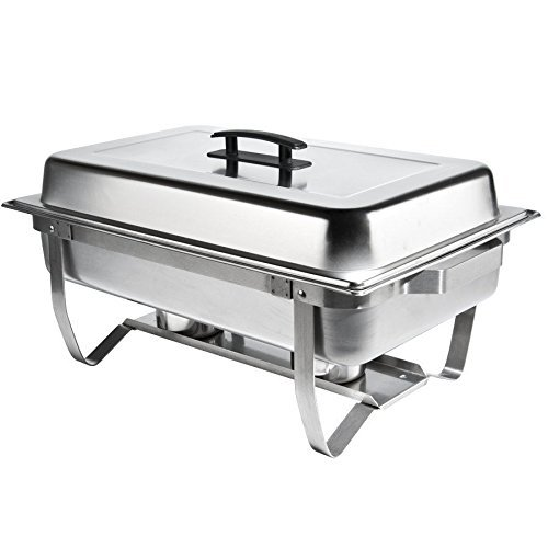 Chafer Single Tray 8 Qt. Set Commercial Stainless Steel Full Size Food Warmer Buffet by M.D.S Cuisine Cookwares