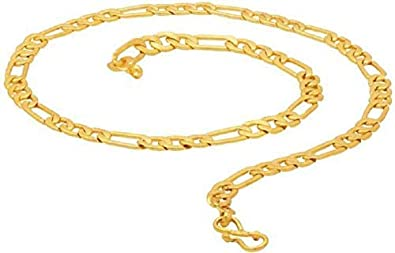 6deab0165634d Tirupati Deals Valentine Gold Sachin Design Double Coated Chain ...