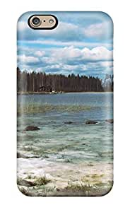 Cute Tpu Aarooyner Finland Finnland Tampere Virrat See Lake Boat Frozen Nature Other Case Cover For Iphone 6