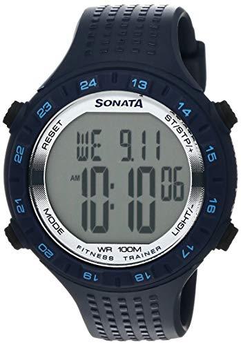 Sonata Digital Grey Dial Men #39;s Watch NL77040PP01 / NL77040PP01