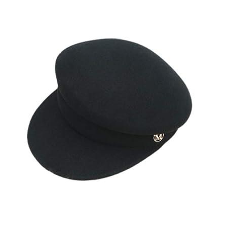 GSCshoe Sombrero Elegante Vintage Sombrero de Lana de Gorra de ...