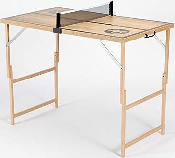 DISH TENNIS Mini Mesa de Ping-Pong con Red | Producto de Calidad Hecho en Austria | Plegable | fácil de Transportar | Interior | Al Aire Libre| Fiesta | Niños | Adulto