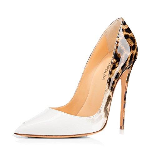 Damen Weiß Zehen Slip uBeauty Heels Schuhe Stilettos Sexy Spitze Übergröße on High Pumps FxwRawBd