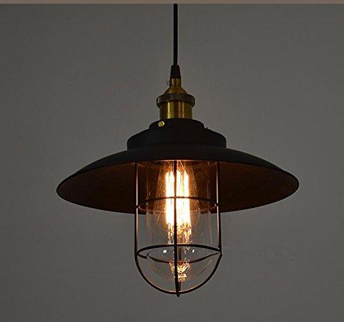 ZHMA Pendant Lamp 1-Light, Retro Industrial Warehouse Pendant Lighting,Geometric Design Modern Iron ceiling lighting, Adjustable Hanging - Warehouse Chandelier