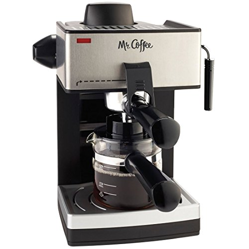 Mr. Coffee 4-Cup Steam Espresso System with Milk Frother -