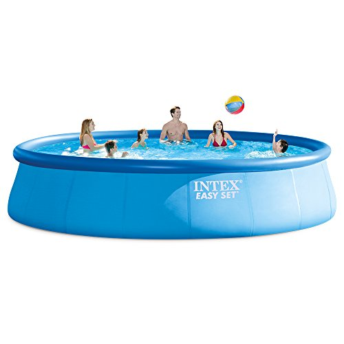 Intex 18ft X 48in Easy Set Pool Set with Filter Pump, Ladder, Ground Cloth & Pool Cover ()