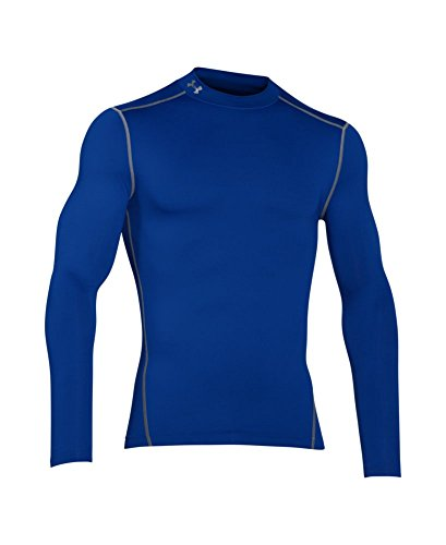 Under Armour Men's ColdGear Armour Compression Mock Long Sleeve Shirt, Royal /Steel, XXX-Large by Under Armour (Image #3)