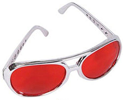 Silver Frame Elvis Aviator Glasses