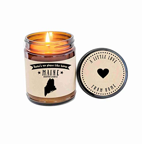 (Maine Scented Candle State Candle Homesick Gift No Place Like Home Thinking of You Holiday Gift)