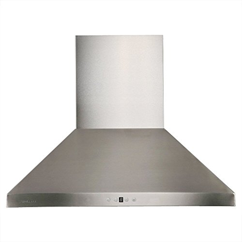 CAVALIERE AP238-PSF-36 Wall Mounted Stainless Steel Kitchen Range Hood 860 CFM by CAVALIERE