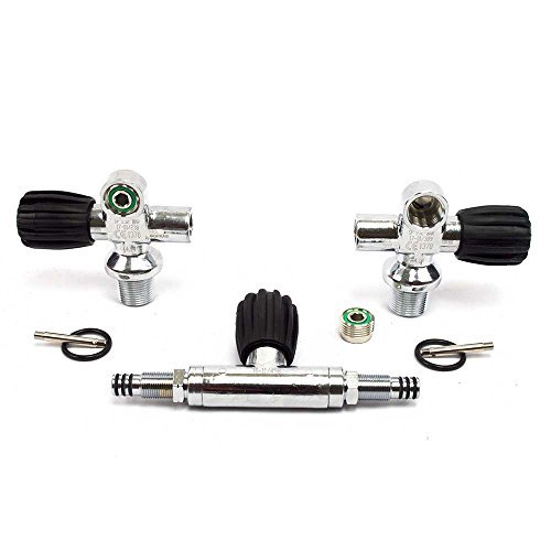 Sopras Tek Manifold 232bar DIN / YOKE Dual Cylinders Twin Valve tanks Scuba Diving Technical Dive Tech (Valve Twin)
