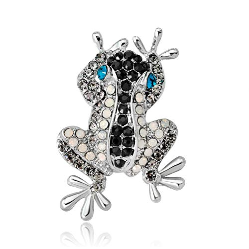 DDLLA Colorful Diamond Frog Rhinestone Brooch Pins Brooches for Women Cute Pins Animal Brooch Pins for Clothing Jewelry Women's Women Fashion Jewelry Alloy Plating,Blue ()