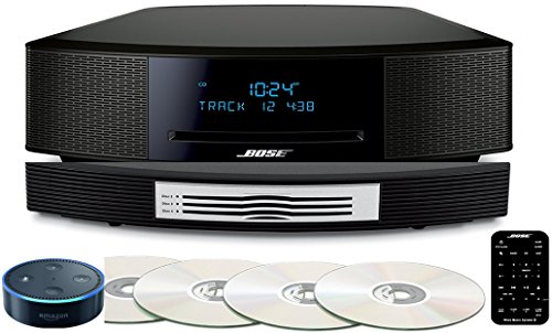 (Bose Wave Music System IV Bundle with Multi-CD Changer and Amazon Echo Dot with Alexa, Espresso Black or Platinum Silver)